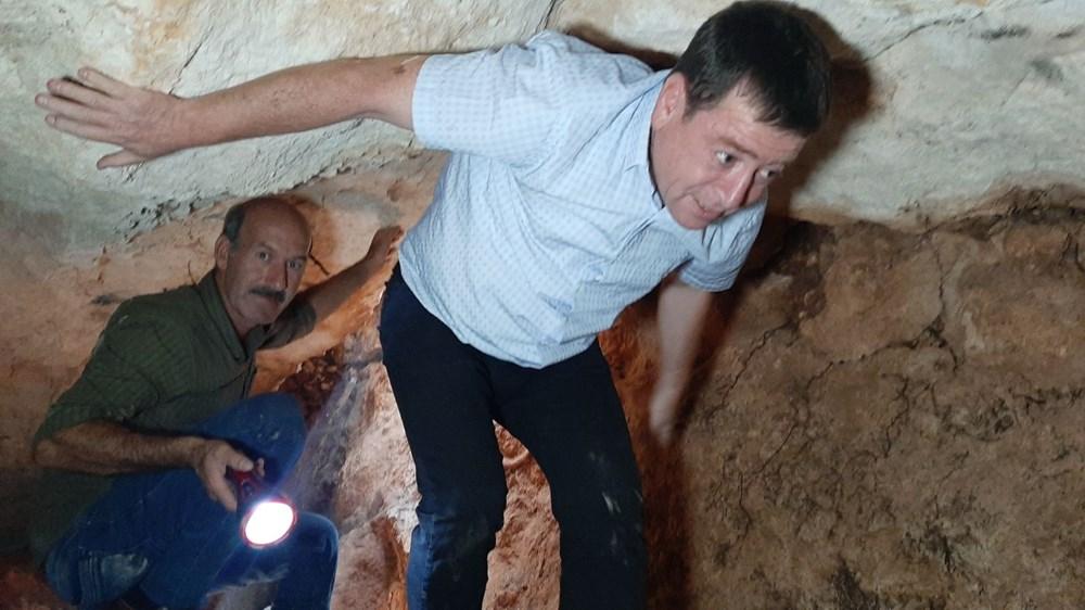 Adıyaman'da foseptik çukuru kazarken tünel buldular - 3
