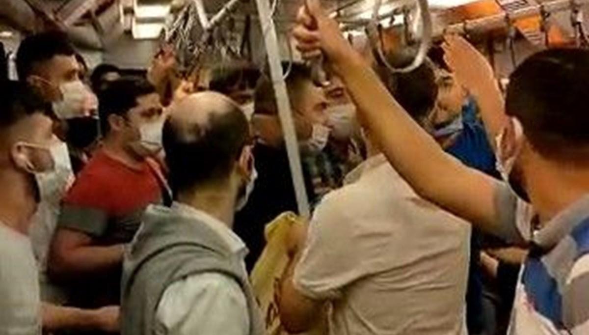 İstanbul metrosunda maske kavgası