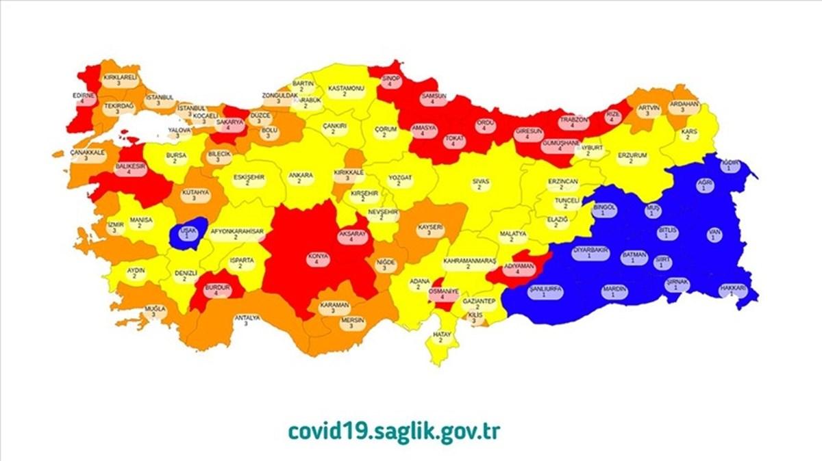 Corona virüs risk haritasındaki sarı ve turuncu illere uyarı