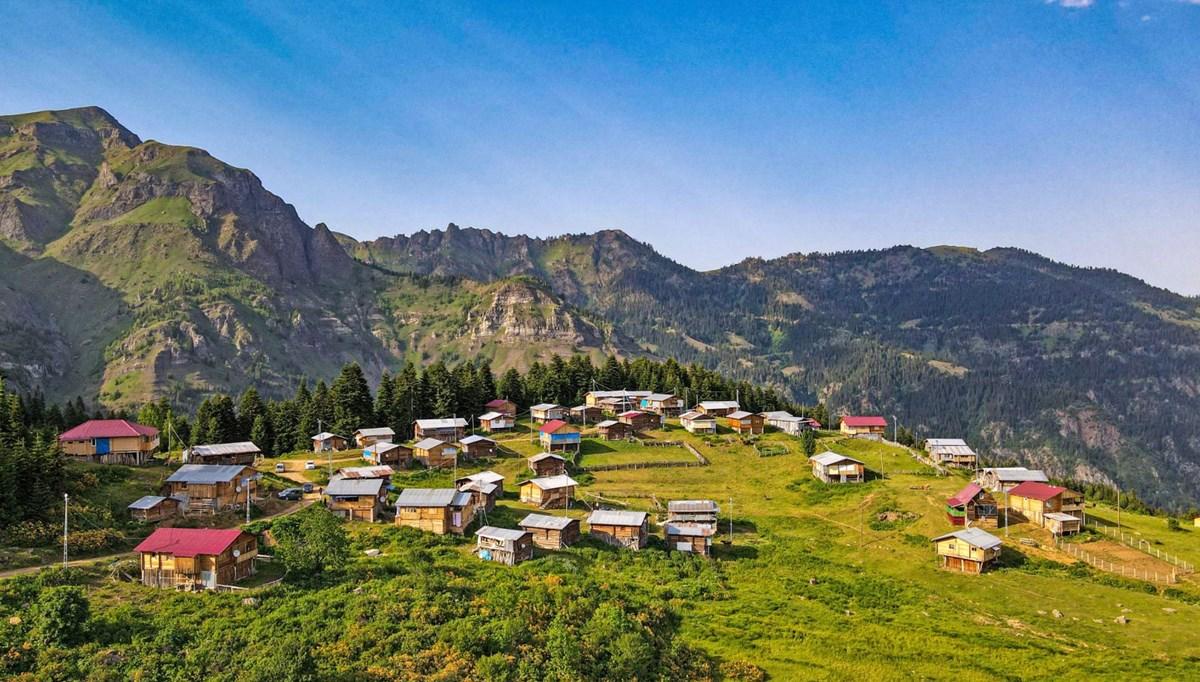 Artvin'in Vaket Yaylası doğal güzelliğiyle İsviçre'yi aratmıyor