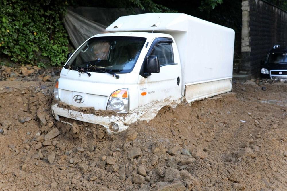 Rize'de sel ve heyelan afetinin hasarı gün ağarınca ortaya çıktı - 8