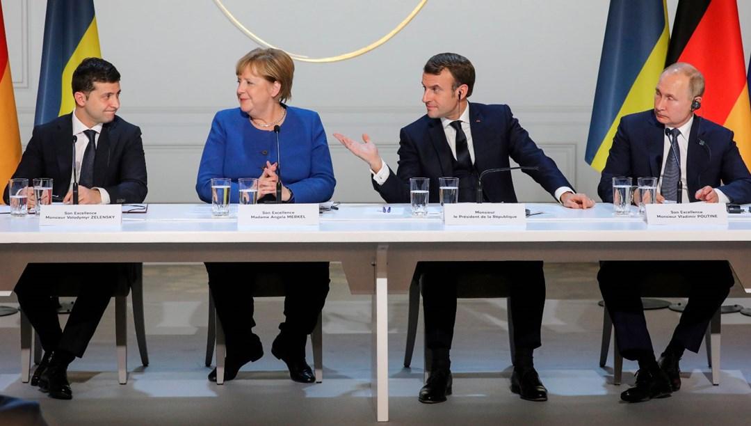 Dört lider, yıl sonuna kadar Ukrayna'nın doğusunda 'tam ateşkes' konusunda anlaştı
