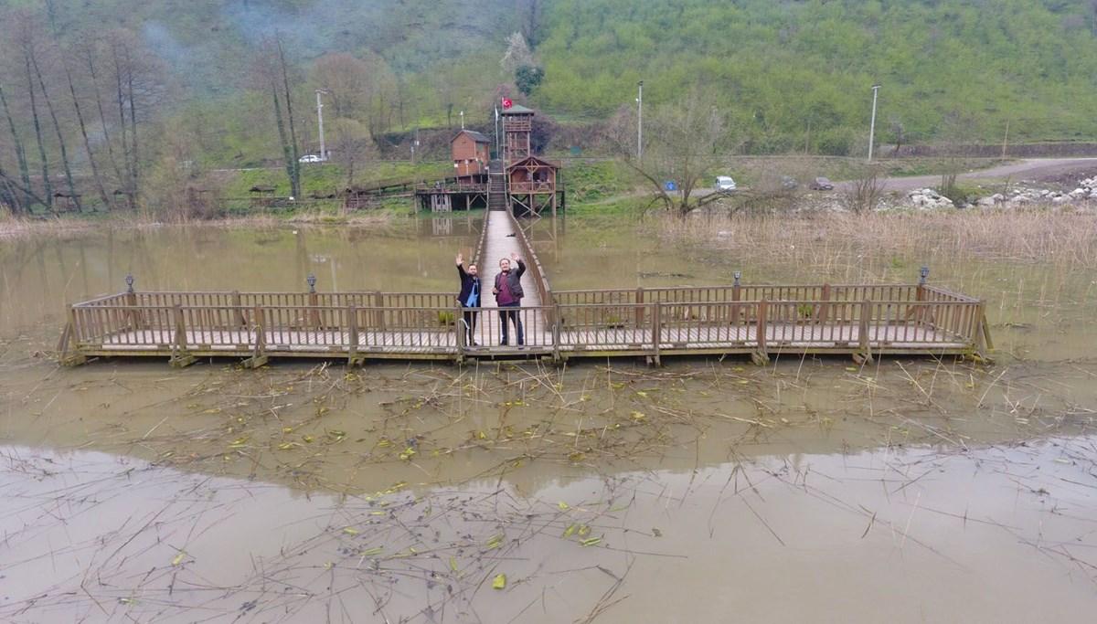 'Efteni Kuş Cenneti'nin güzelliği drone ile havadan görüntülendi