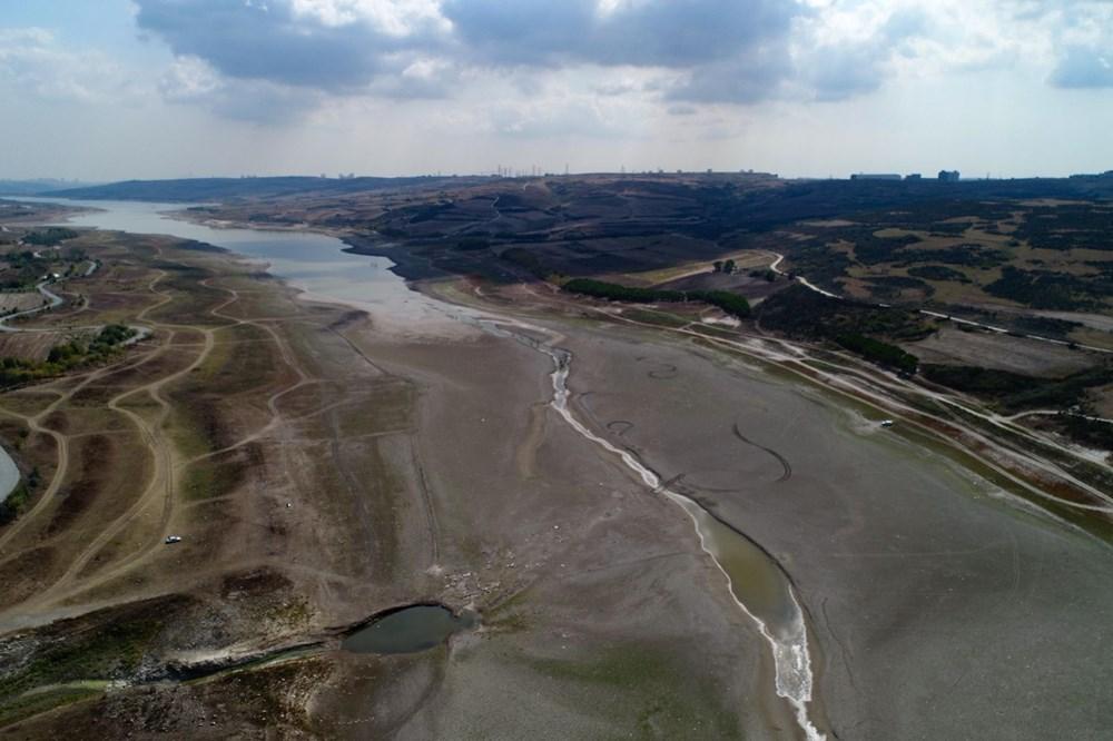 Suların çekildiği Sazlıdere Barajı'nda korkutan görnütü - 4