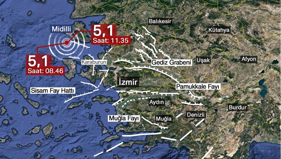 SON DAKİKA: Karaburun açıklarında 5,1 büyüklüğünde bir deprem daha