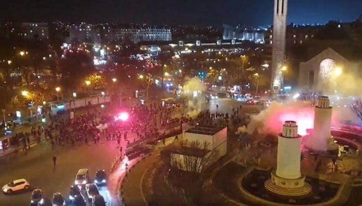 Paris'te PSG ve Galatasaray taraftarları arasında olaylar çıktı