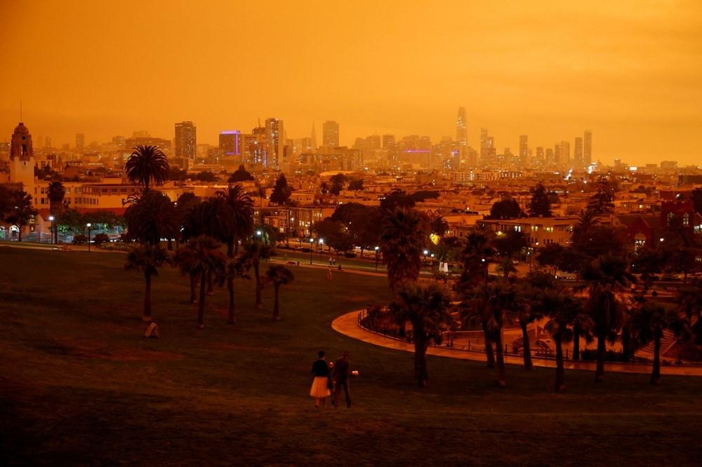 ABD'de yangınlar beş kasabayı yok etti (Gökyüzü turuncu renge boyandı) - 6