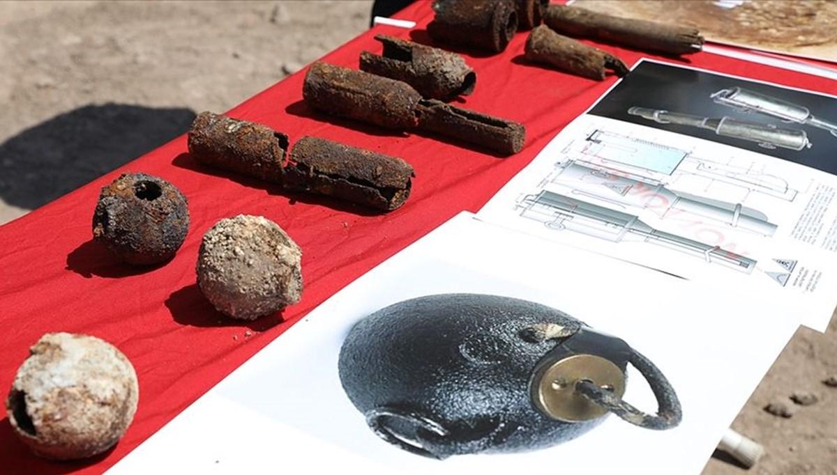 Diyarbakır'da Amida Höyük'teki kazılarda 1. Dünya Savaşı'ndan kalma 782 el bombası bulundu
