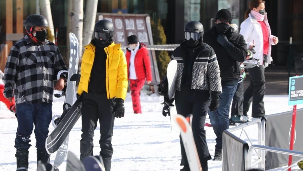 Kylie Jenner ve Kendall Jenner Aspen'de kayak tatili yapıyor