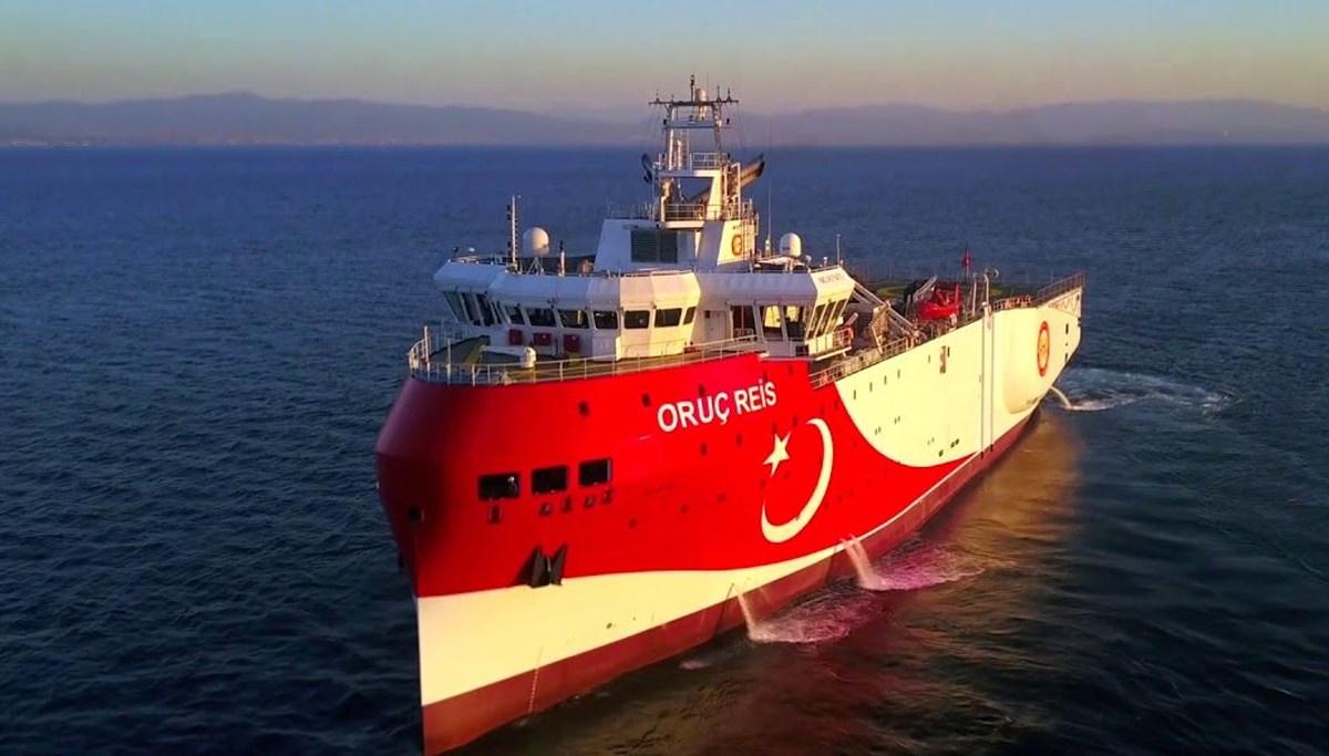 Doğu Akdeniz'de araştırmalarına devam eden Oruç Reis'in Navtex süresi uzatıldı