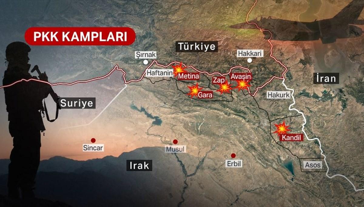 Irak'ın kuzeyindeki Pençe-Şimşek ve Pençe-Yıldırım operasyonlarında terör hedefleri vuruluyor