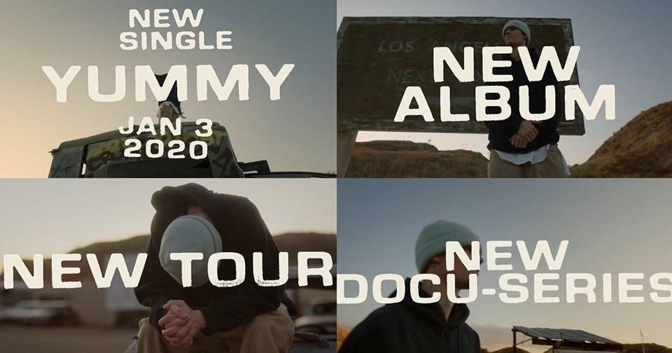 Justin Bieber'ın albümü için yaptığı paylaşımdan fotoğraflar