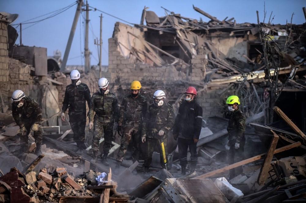 Ermenistan'ın Gence'ye füze saldırısının şiddeti gün ağarınca ortaya çıktı - 23