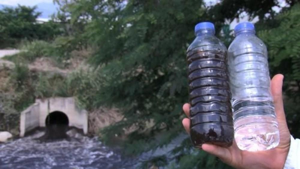 Nilüfer Çayı, atıklar nedeniyle siyaha büründü - 2