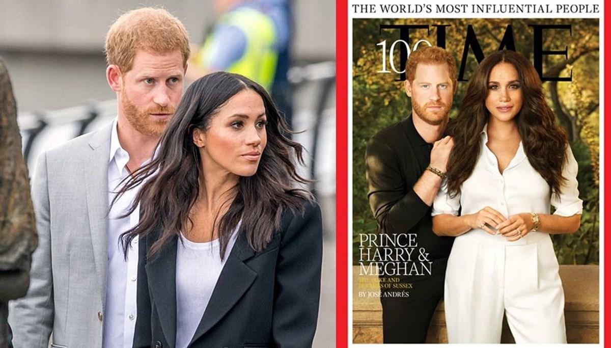 Time'ın En etkili 100 kişi kapağındaki Prens Harry ve Meghan Markle'ın verdiği ince mesajlar