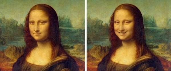 Ünlü klasik tablolardaki figürler gülümseselerdi nasıl görünürdü?