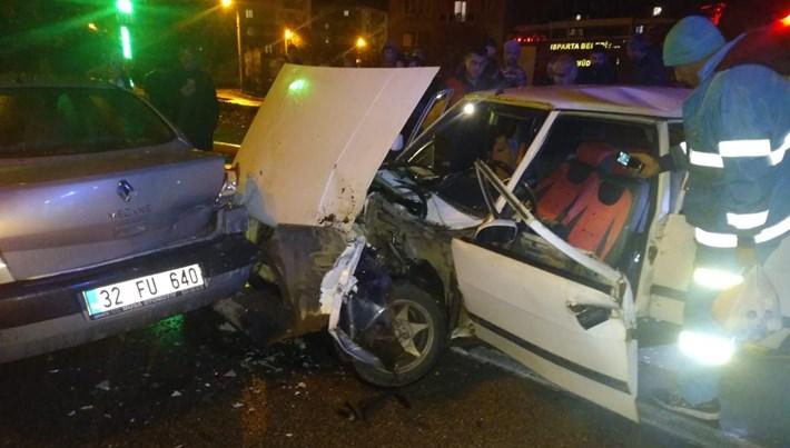 Isparta'da zincirleme kazaya neden olan alkollü sürücüye rekor ceza