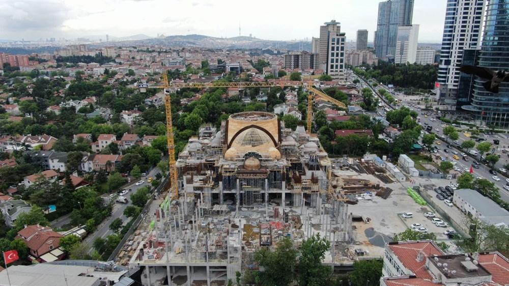Levent'teki Barbaros Hayrettin Paşa Cami'nin yüzde 75'i tamamlandı - 3