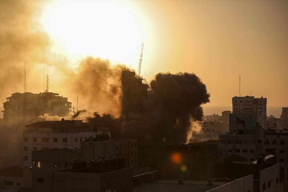 İsrail, Gazze'de sivillerin bulunduğu 14 katlı binayı vurdu - 20