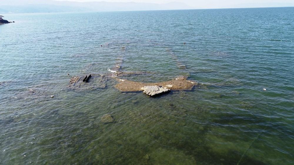 Sular çekilince 2 bin yıllık bazilikanın bir kısmı gün yüzüne çıktı - 5