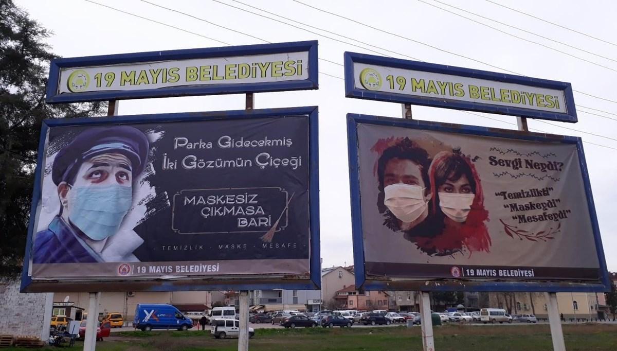 Belediyeden Yeşilçam replikleriyle Covid-19 mesajı