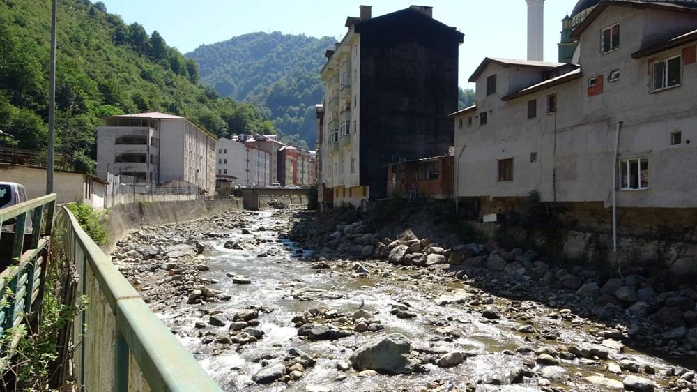 Trabzon'da tedirgin eden görüntü: Giresun'un Dereli ilçesi gibi sel riski taşıyor - 6