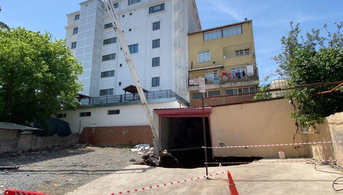 Ümraniye'de garajda çökme: İki bina boşaltıldı