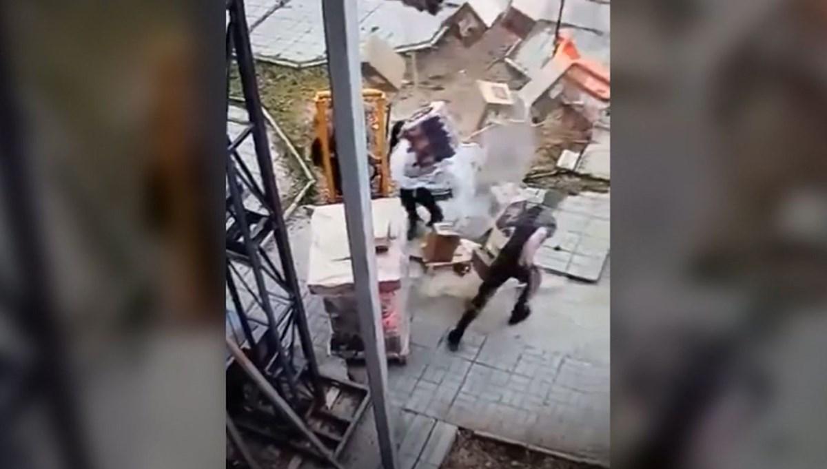 İşçilerin üstüne içecek kolisi yağdı