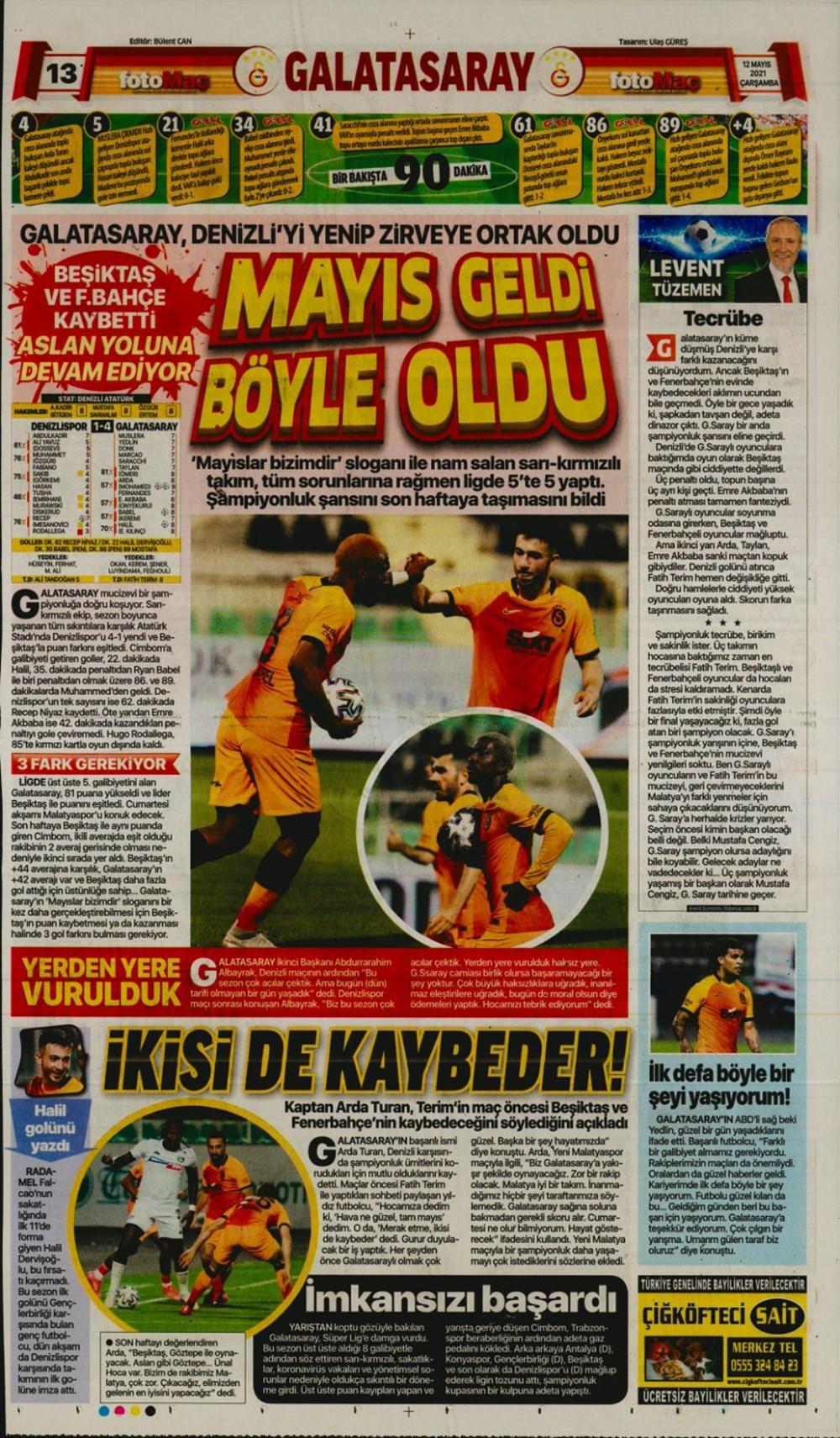 Günün spor manşetleri (12 Mayıs 2021) - 6