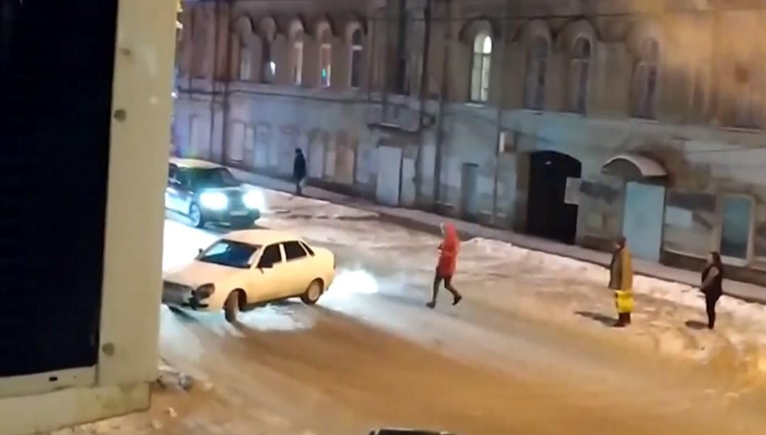 Rusya'da sürücüsüz araç trafiği birbirine kattı