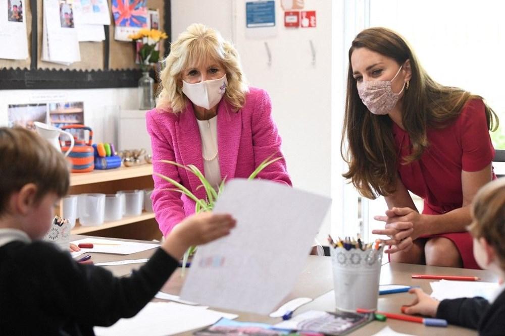First Lady Jill Biden ve Cambridge Düşesi Kate Middleton buluştu: Birlikte okul ziyareti - 3
