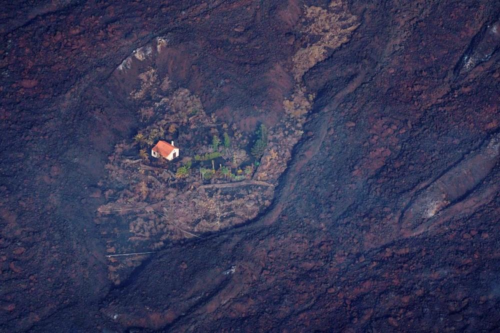 Kanarya Adaları'nın mucize evi: Etrafındaki her şey küle dönmesine rağmen hiçbir zarar görmedi - 4