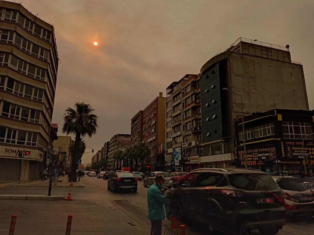 İzmir'de bulanık gökyüzü korkuttu - 7