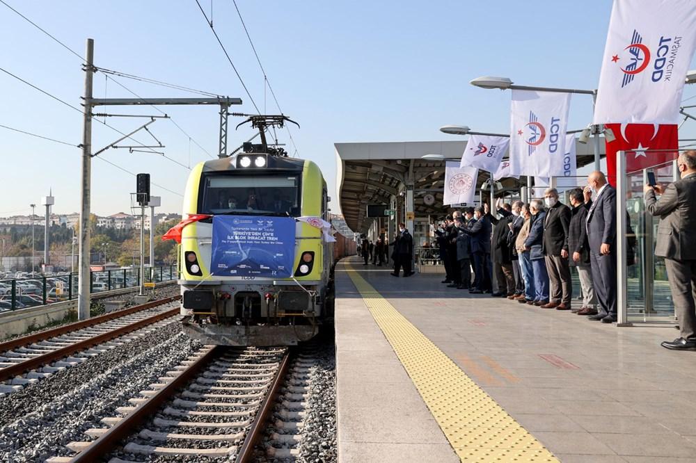 Türkiye'den Çin'e gidecek ilk ihracat treni İstanbul'dan uğurlandı - 13
