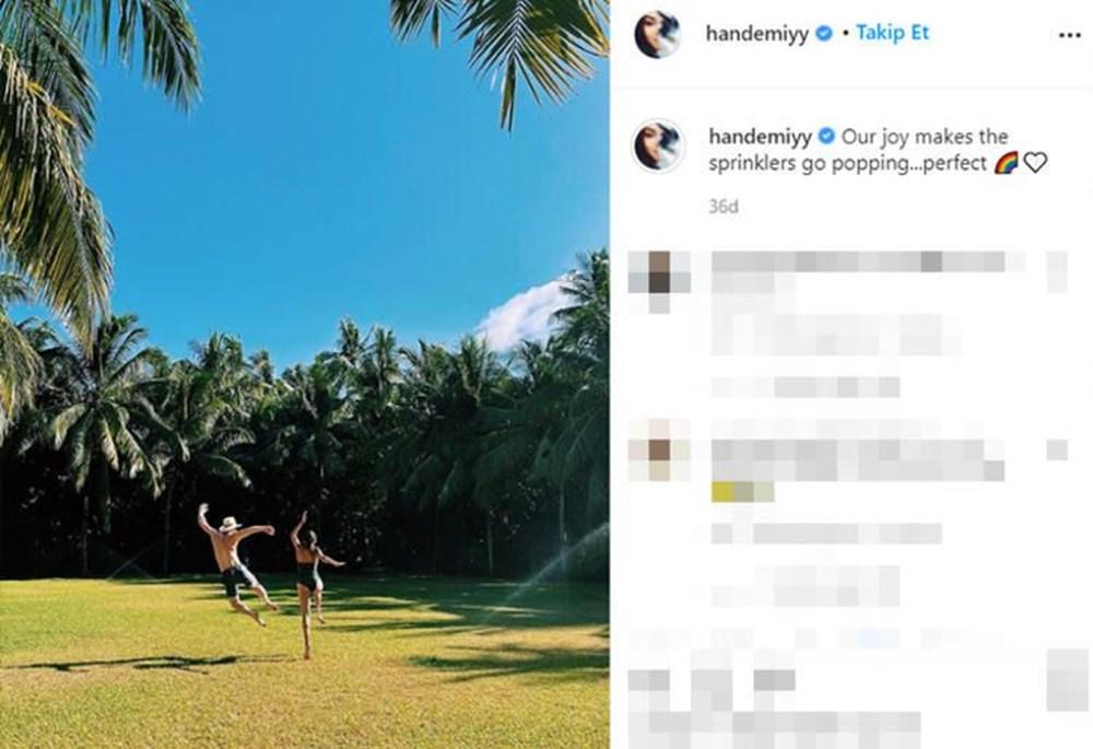 Hande Erçel ve Kerem Bürsin'den Maldivler tatili fotoğrafları - 6