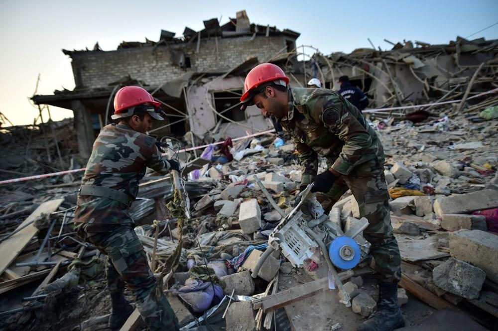 Ermenistan'ın Gence'ye füze saldırısının şiddeti gün ağarınca ortaya çıktı - 10