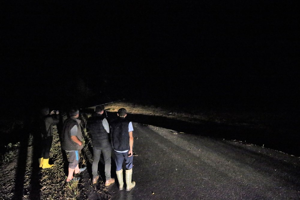 Düzce'de dere taştı, yol çöktü: Kentte sağanak etkili oldu - 6