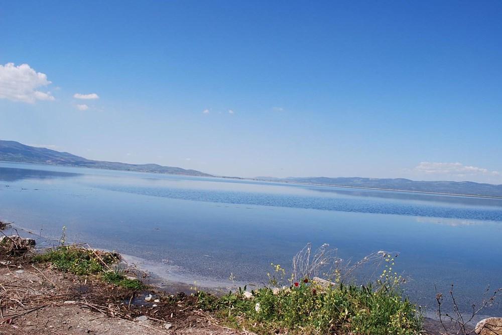 'Kuş cenneti' Marmara Gölü'nde derinlik 40 santimetreye düştü - 15