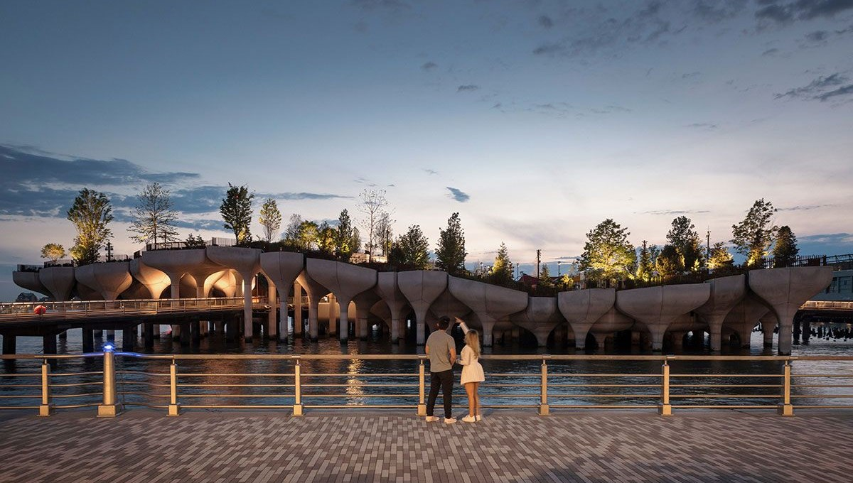 New York's new futuristic park: Little Island
