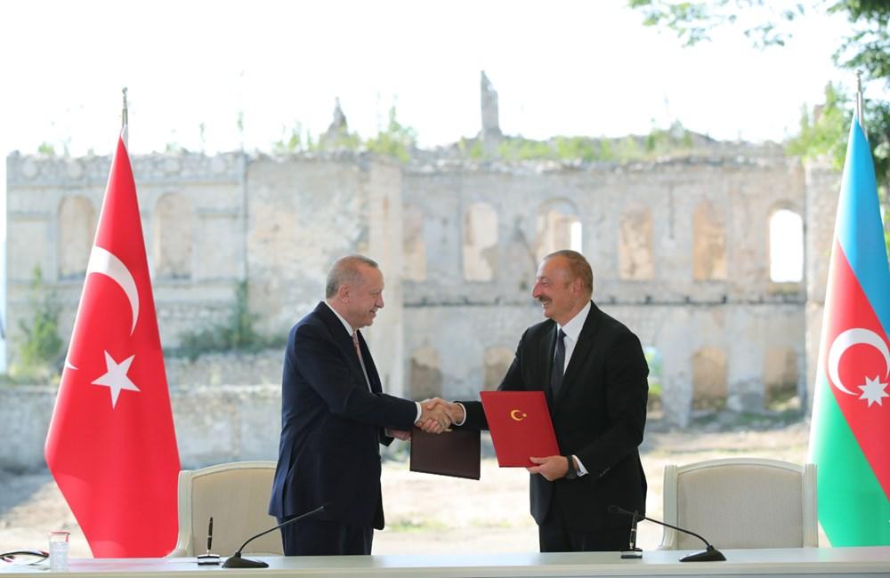 Cumhurbaşkanı Erdoğan ve Aliyev Şuşa Beyannamesi'ni imzaladı - 8