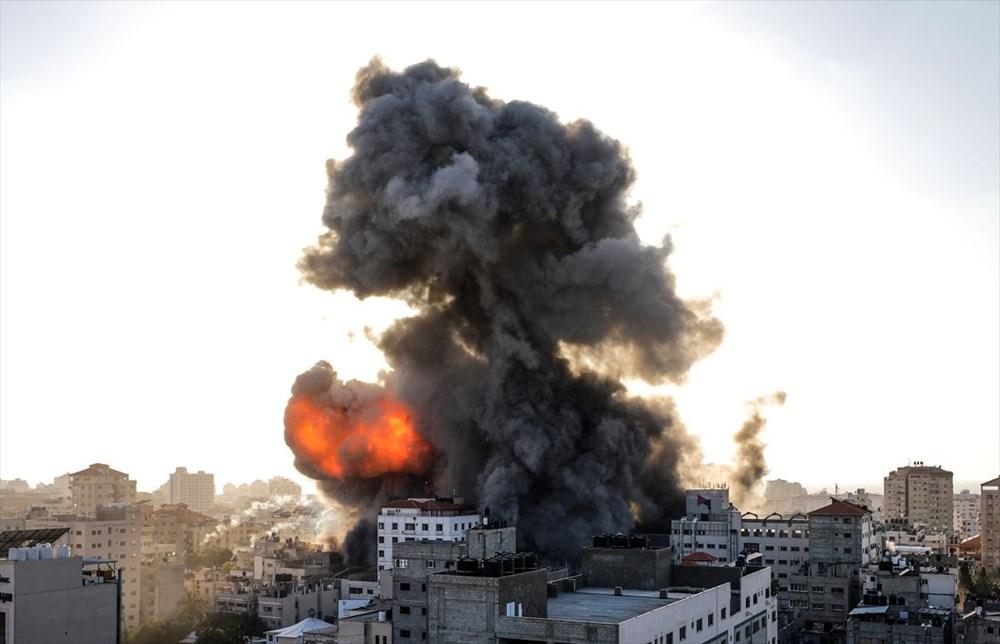 İsrail, Gazze'de sivillerin bulunduğu 14 katlı binayı vurdu - 8