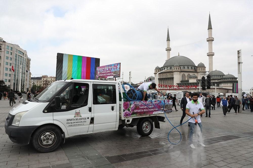 Taksim Camii için açılış hazırlıkları: Isparta'dan 25 ton gül suyu - 5