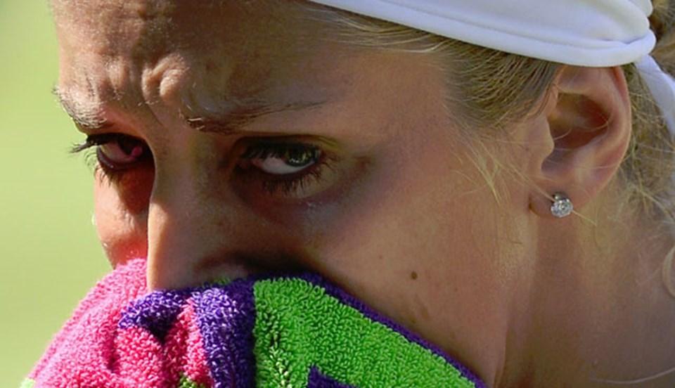 Lisicki maç esnasında gözyaşlarına zor hakim oldu.