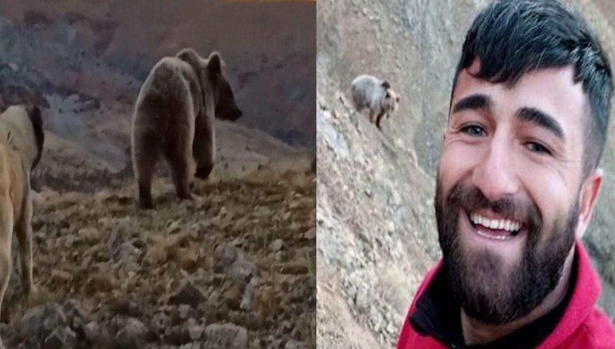 Selfie için ayının peşinden koştu
