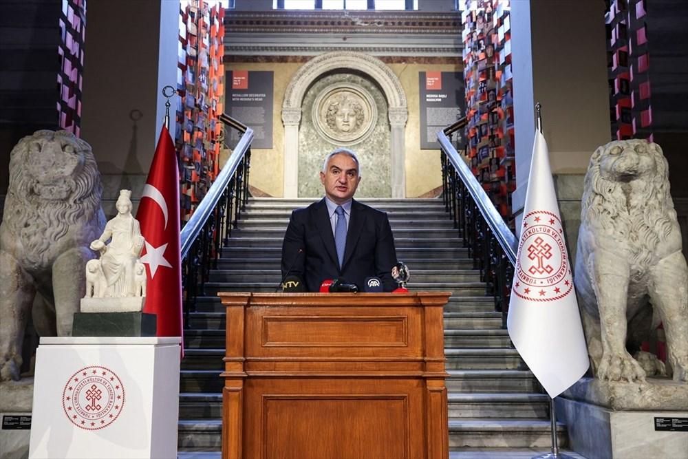 Kültür ve Turizm Bakanı Mehmet Nuri Ersoy Kybele heykelinin tanıtımını yaptı - 2