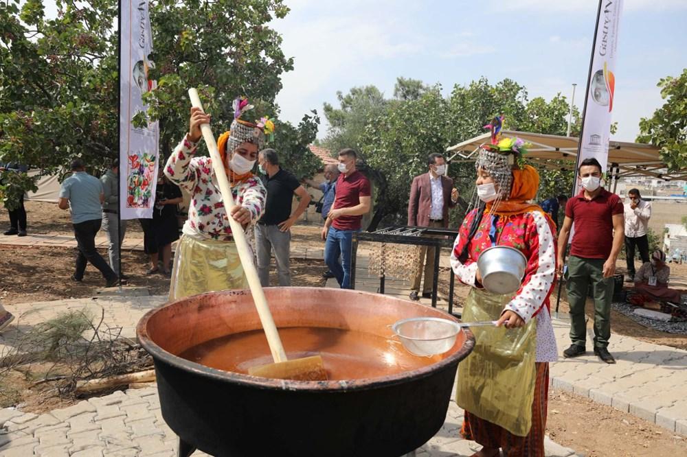 GastroAntep Festivali, fıstık hasadı ve şire yapımı ile başladı - 9