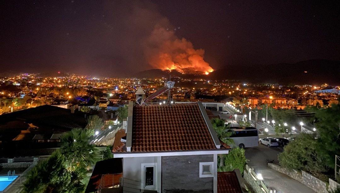 Muğla'nın Fethiye ilçesinde orman yangını başladı   NTV