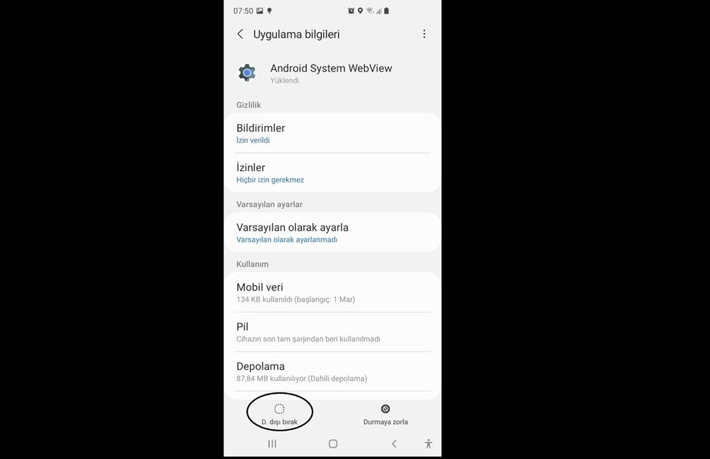 Android uygulamalar 'Android System Webview' nedeniyle çöküyor (Google'dan çözüm açıklaması) - 9