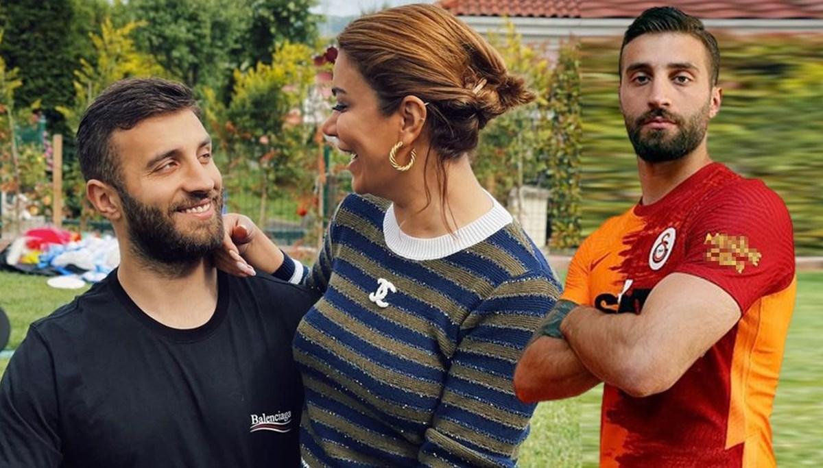 Galatasaraylı Alpaslan Öztürk'ün eşi Ebru Şancı kurayı bildi