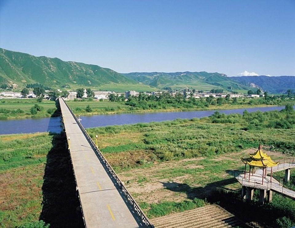 """Söz konusu """"tetikçi""""lerin geçmeye çalıştığı Tumen Nehri."""